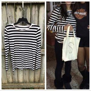 DIY Burglar Costume black white stripe mask bag L